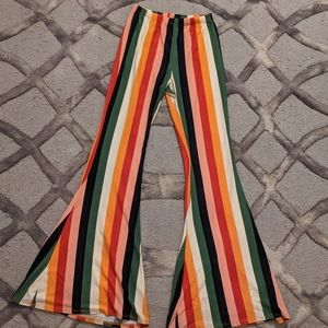 Flared colorful pants